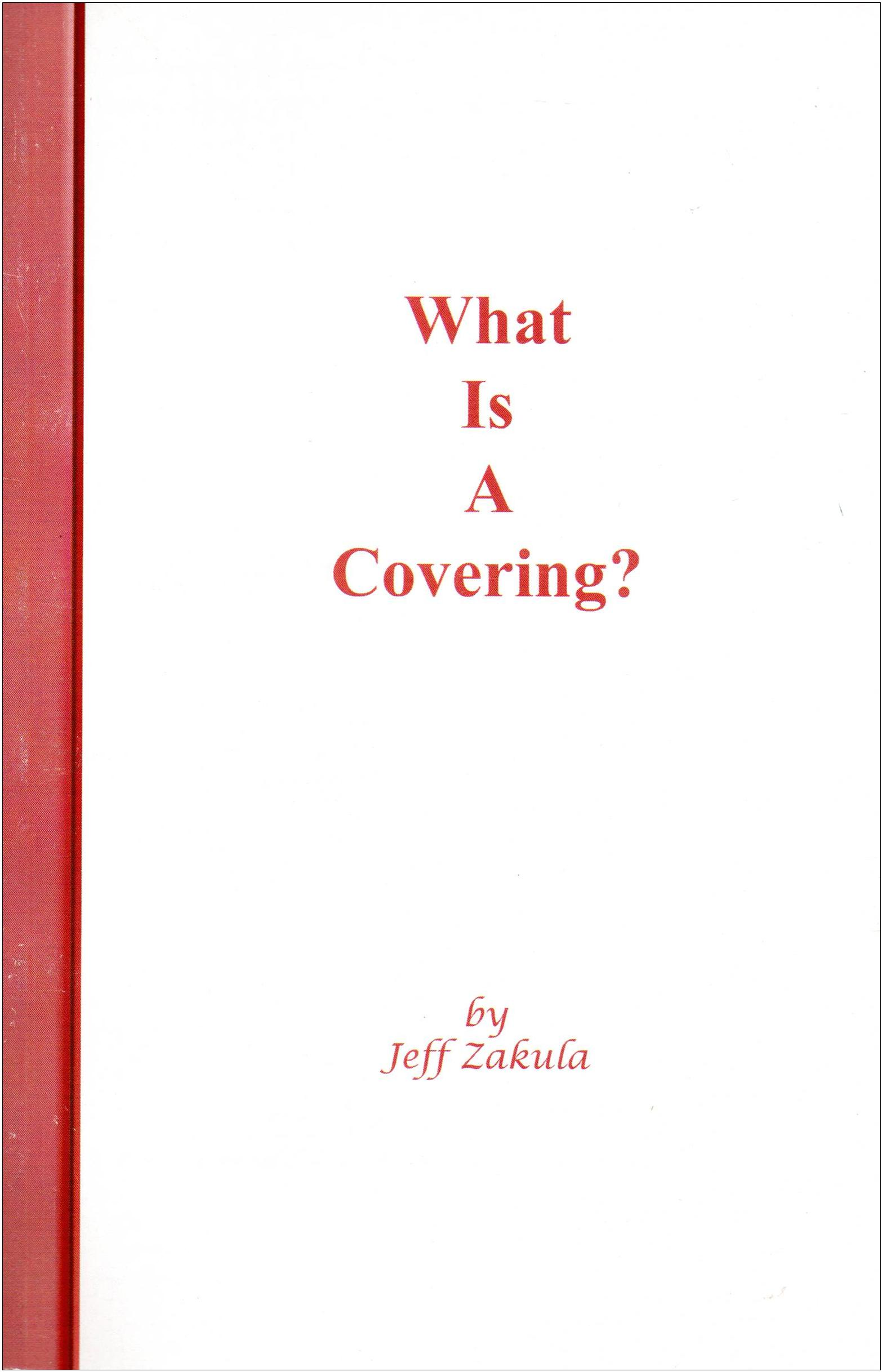 What is a Covering? NEW!!! - ONLY 2 LEFT